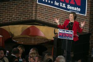 Bill Clinton Campaigns With GA Senate Candidate Michelle Nunn