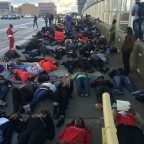 Atlanta Protestors Stage Die-In on 17th Street Bridge [PHOTOS & VIDEO]