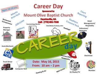 Mount Olive Baptist Church Career Day