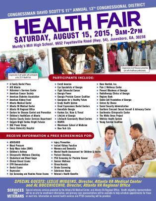 Congressman David Scott's Health Fair