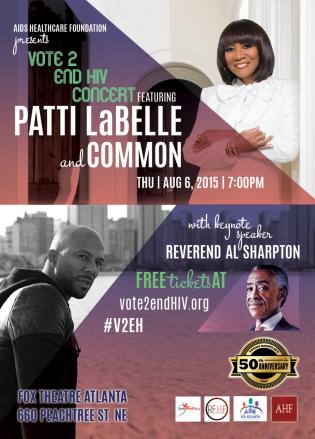 Patti LaBelle Common AIDS benefit concert