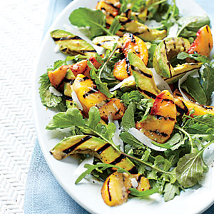 Grilled Peach and Avocado Salad Recipe