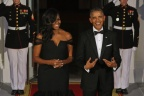 First Lady Michelle Obama Stuns In Vera Wang At State Dinner, Shuts Down The Internet [PHOTOS]