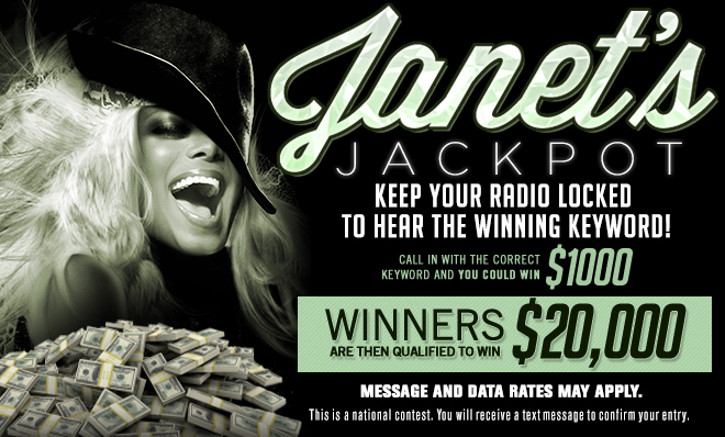 $20 National Text To Win - JANETSJACKPOT Graphic