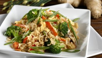 Vegetarian Fried Rice with Vegetables, Healthy