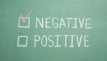 Negative Postive Chalkboard
