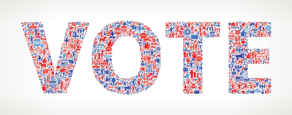Vote and Elections USA Patriotic Icon Pattern