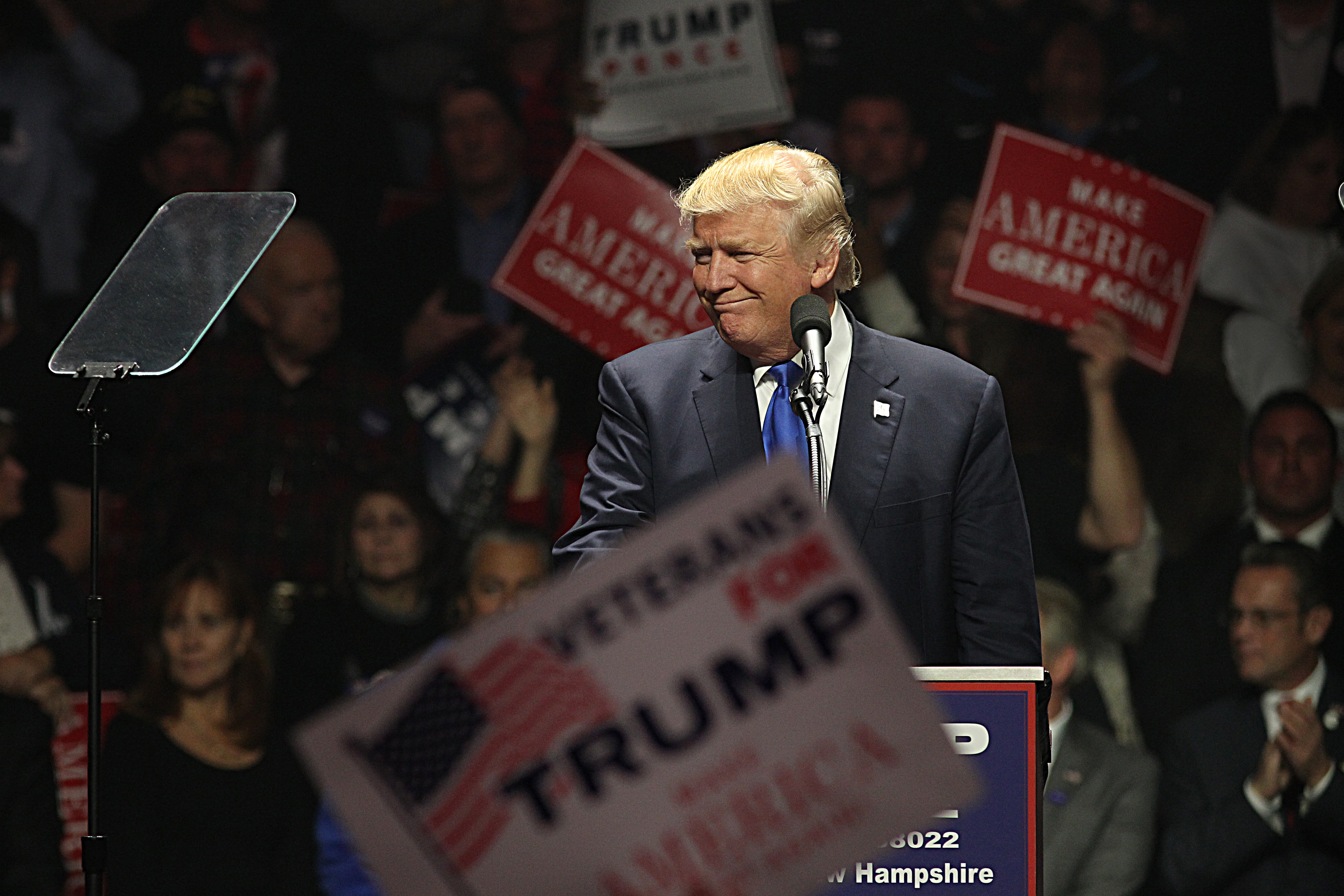 Donald Trump Rally In New Hampshire