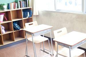 Empty Desks in a Classroom