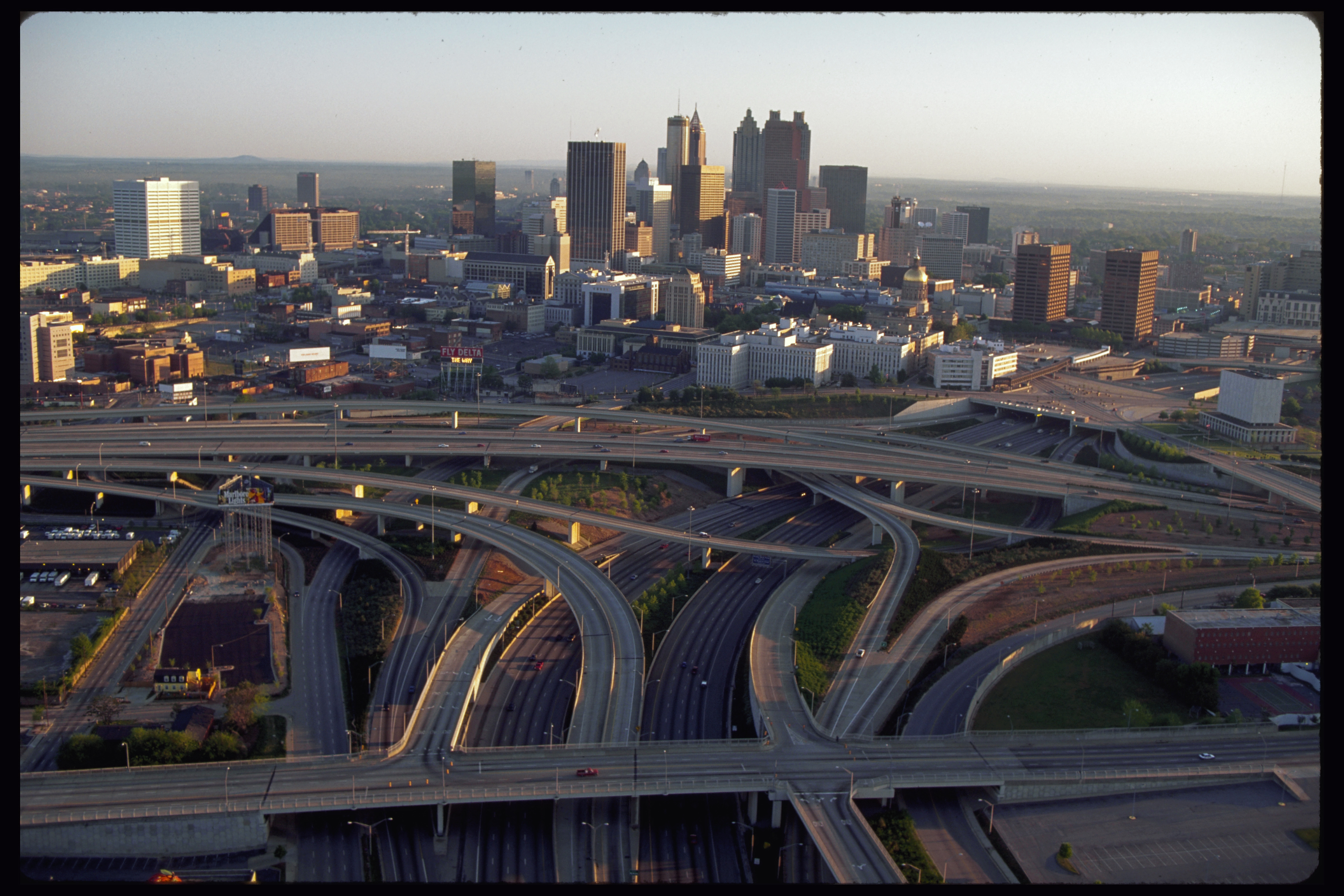 Downtown Atlanta and Freeways
