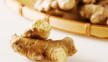 Pile of ginger root.