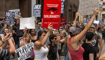 About 400 demonstrators attend rally against nationalist...