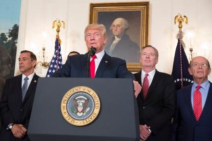 President Trump Signs a Memorandum on Addressing China