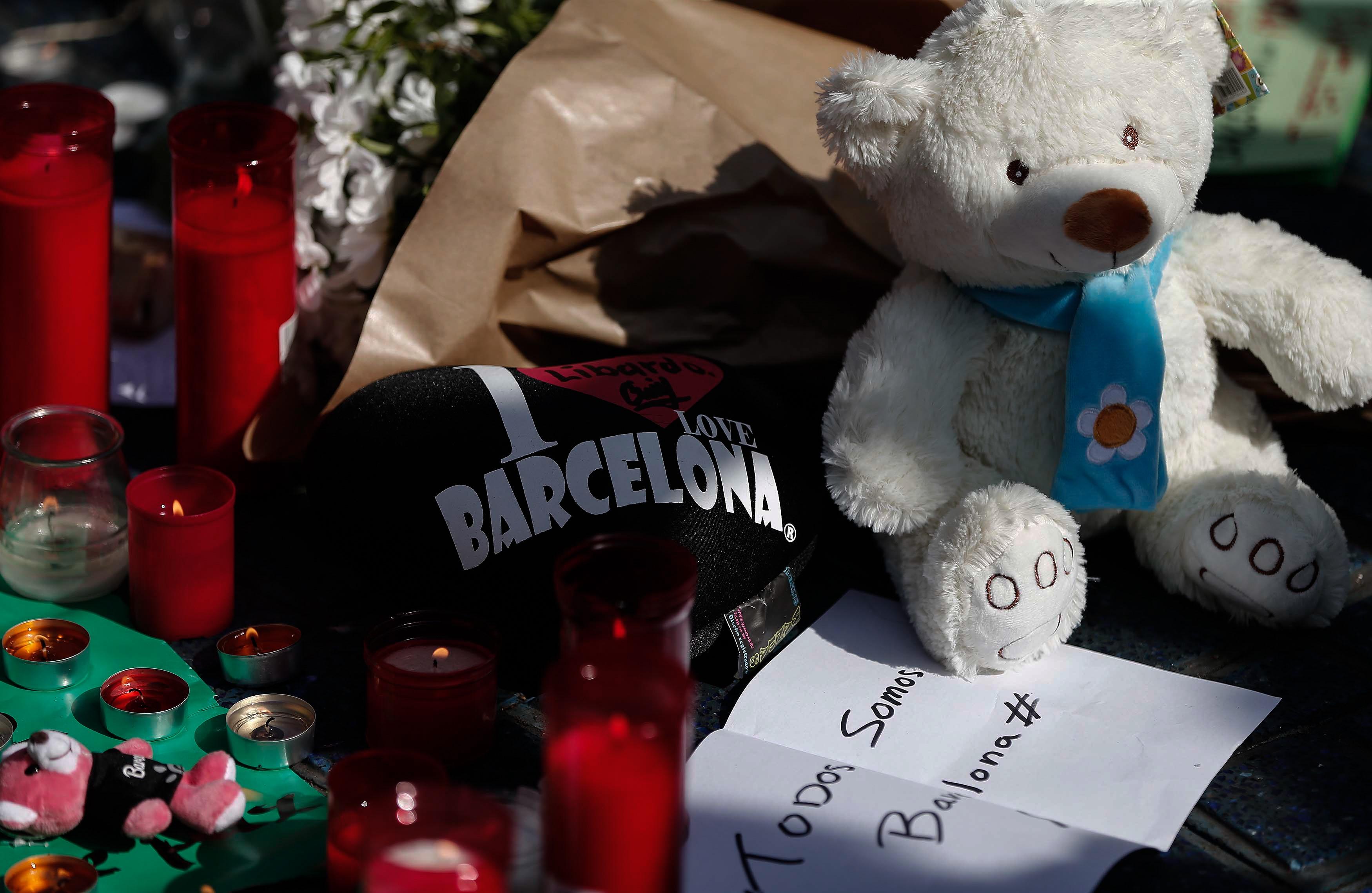 Memorial for Barcelona terror attack victims