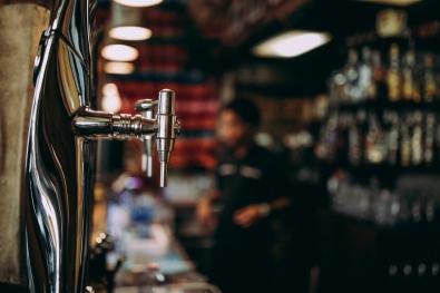 Beer tap in pub