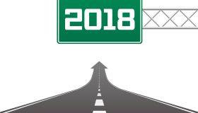 New year 2018 ahead
