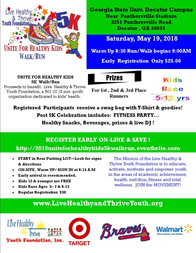 Live Kealthy & Thrive YOuth Foundation Unite For Healthy Kids Walk/Run