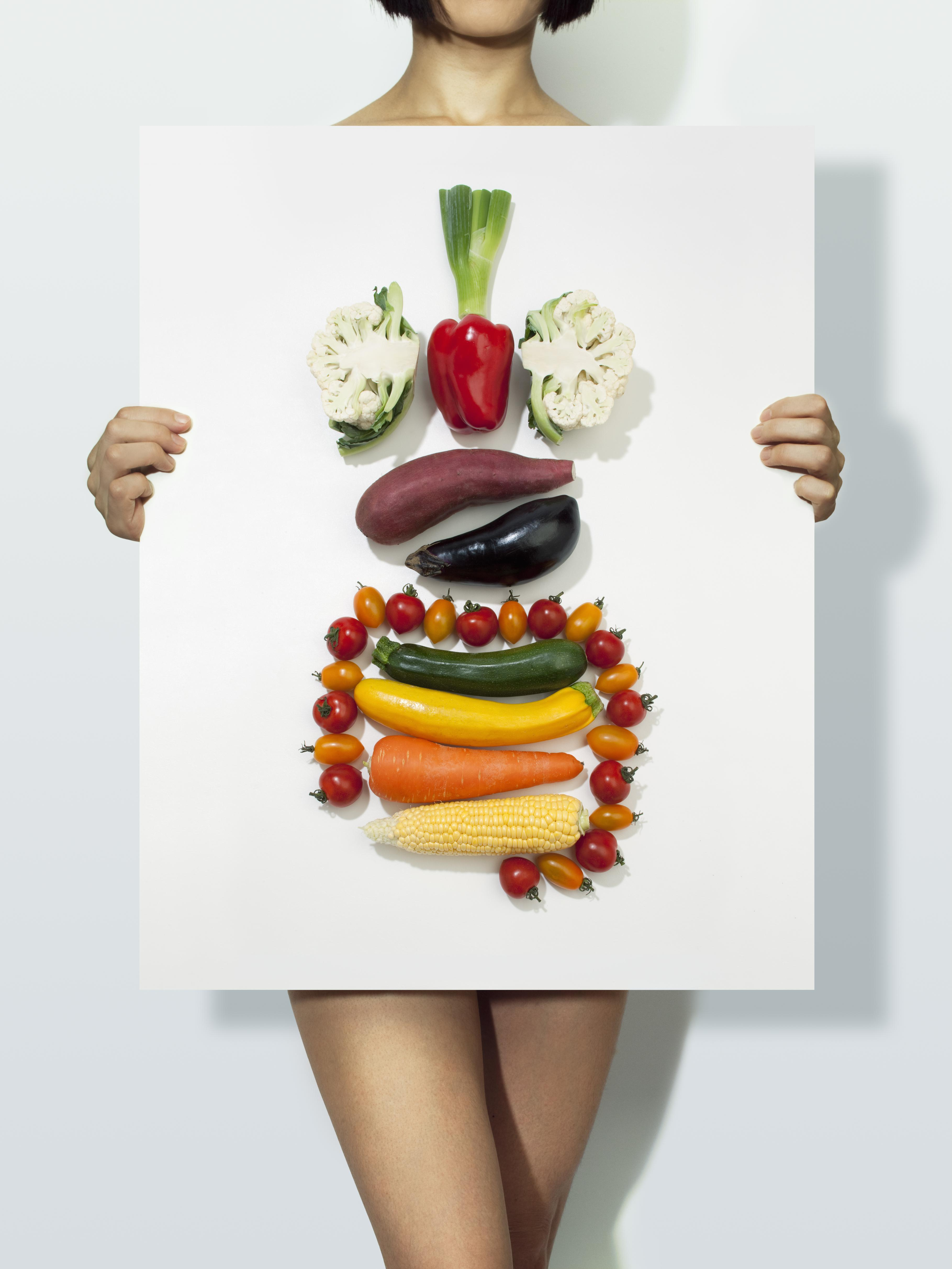 The body made with vegetables