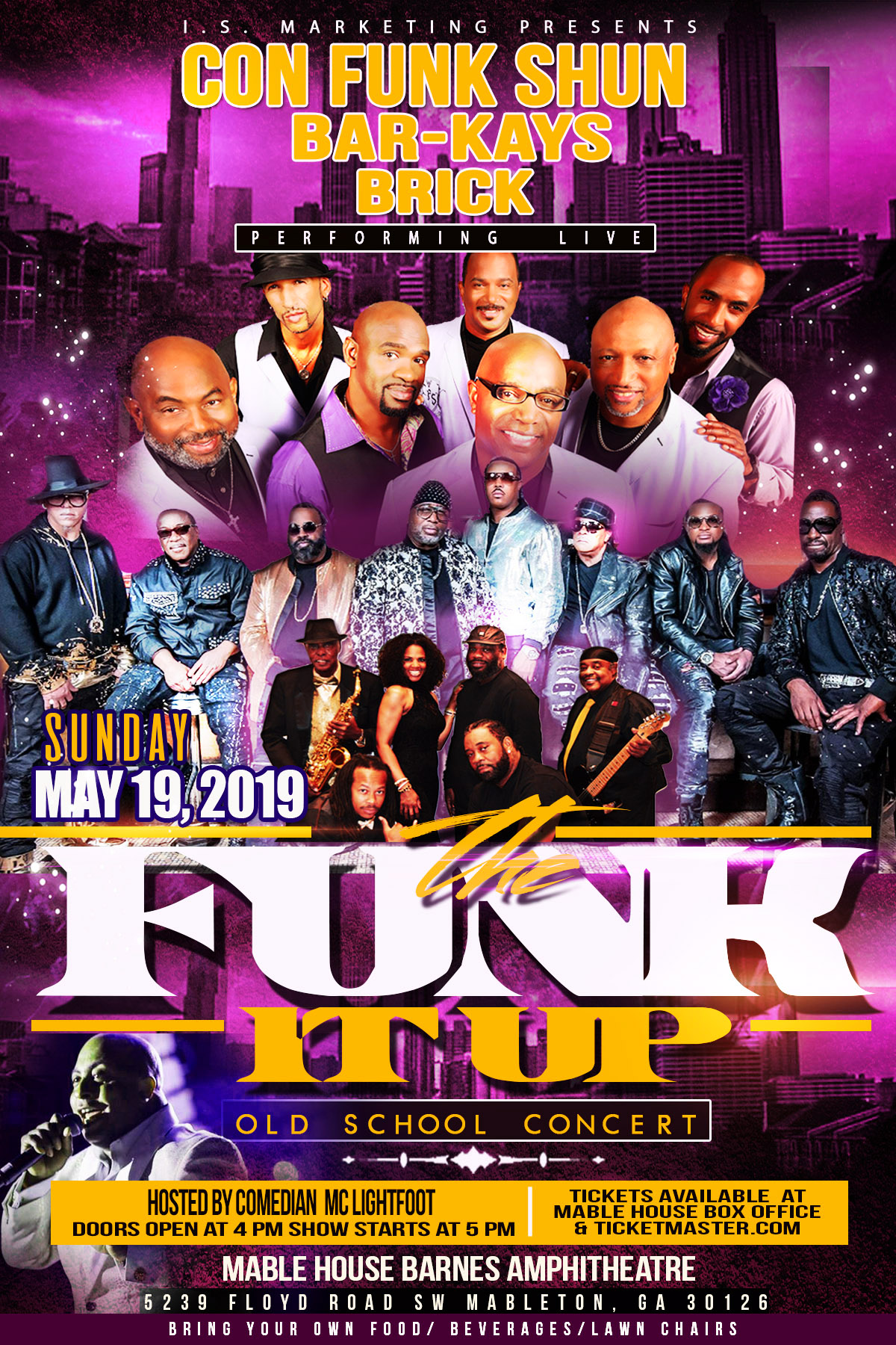 I.S. Marketing Presents: The Funk It Up Old School Concert