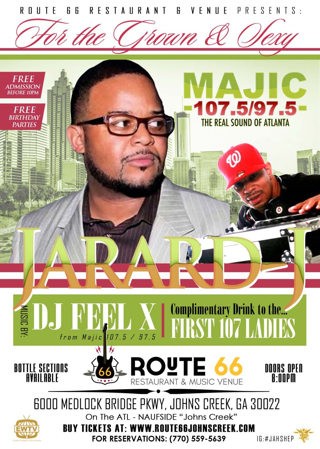 Route 66 & Venue Presents: For The Grown & Sexy With Jarard J