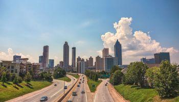 Atlanta skyline in the day