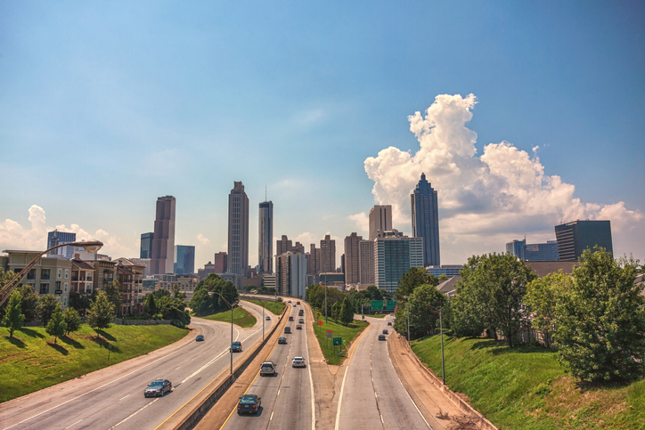 Atlanta skyline in the day
