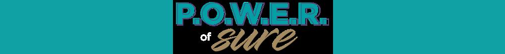 The P.O.W.E.R. of Sure | Brackets